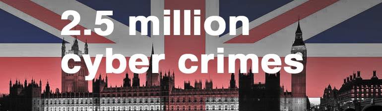 UK 2.5 million cyber crimes