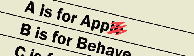 A is for App, B is for Behave