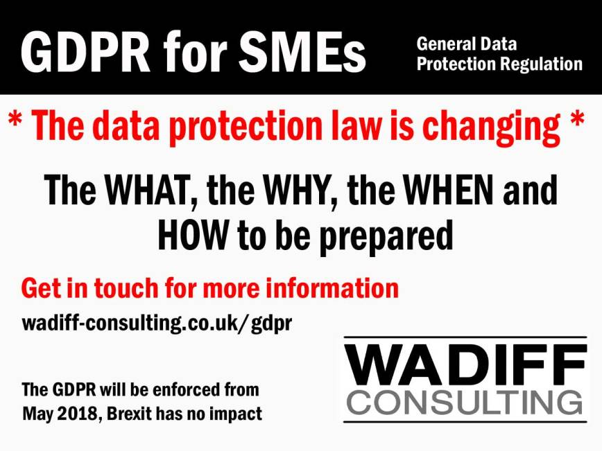 GDPR for SMEs - be prepared